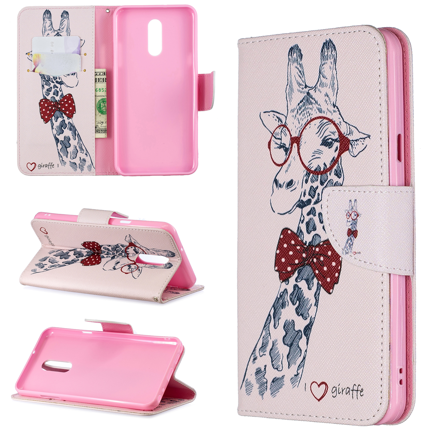 HUANGTAOLI PU Leather Flip Wallet Cover Case Card Slots For LG Stylo 4 Stylo 5 K8 K10 2018 V30 H930 Phone Case in Wallet Cases from Cellphones Telecommunications
