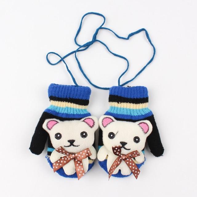 Nuevos niños guantes de dibujos animados bebé oso caliente niños ...