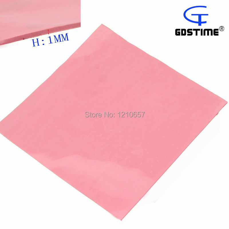 5 pieces Lot Pink Silicone Thermal Pad 100mm x 100mm x 1mm 1mm Thick Cooling for CPU GPU cpu cooling conductonaut 1g second liquid metal grease gpu coling reduce the temperature by 20 degrees centigrade