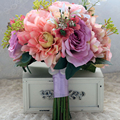 Старинные Свадебные Букет рамо бода Искусственный цветок Свадебный Букет Невесты Ручной работы buques de noivas 2017 bruids boeket