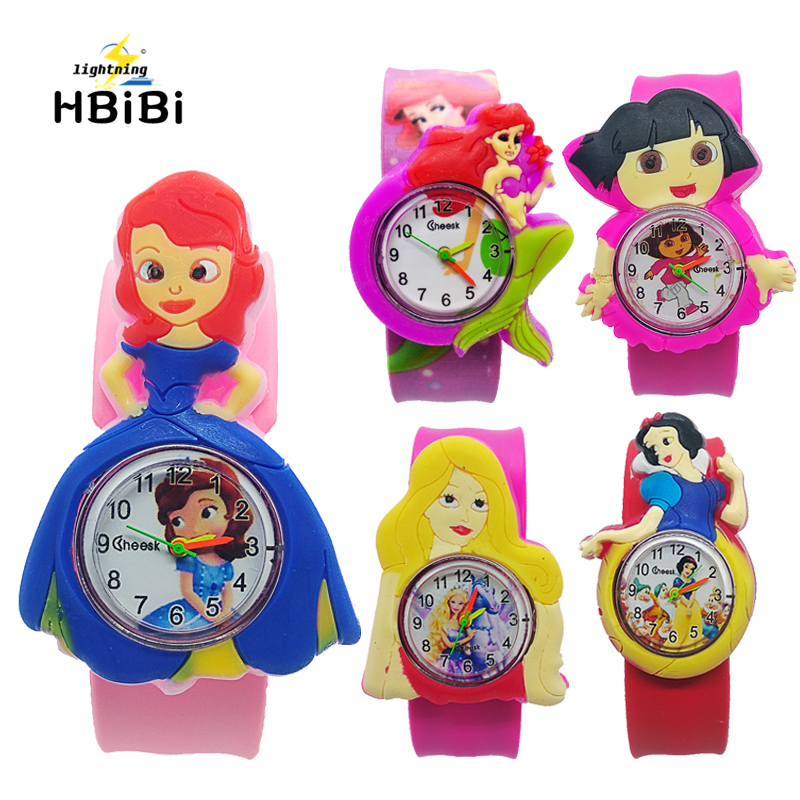 Women Cartoon Princess Mermaid Girl Style Kids Watches Bracelet Digital Dial Children Students Girls Clock Rubber Quartz Watch