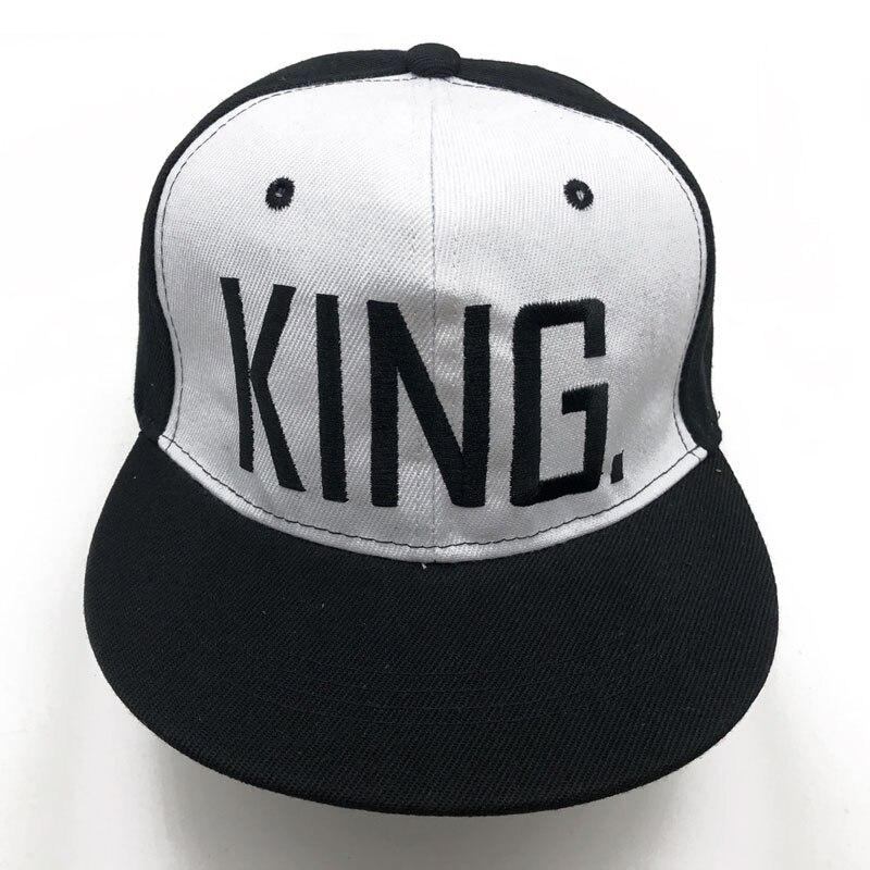 KING QUEEN   Baseball     Cap   Snapback Men Women Visor   Caps   dad Bone White Black Couple Lover Hip Hop Sport Gorras Casquette Hats