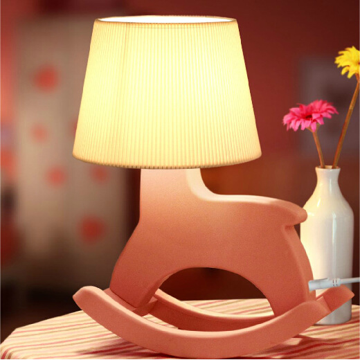 Newest Novelty Gifts rocking horse table lamp Luces Navidad Horse Led Night Lights LED Desk Table Lamp as Home Decoration стоимость