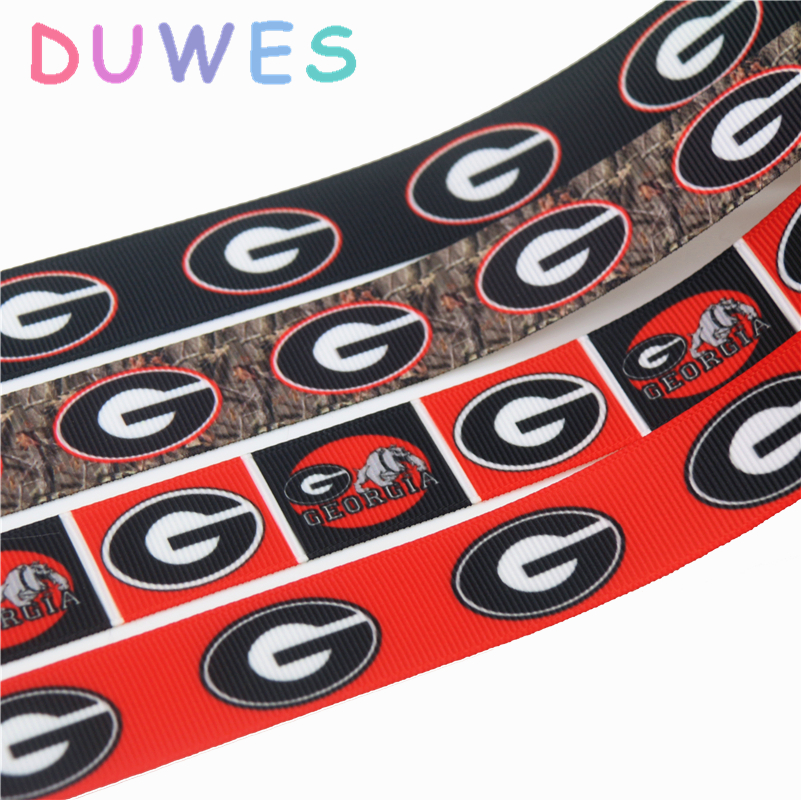 Duwes 50yards Printed Grosgrain Ribbon Accessory Hairbow Headwear Decoration Wholesale Oem Diy D845 Arts,crafts & Sewing Apparel Sewing & Fabric