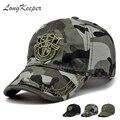 LongKeeper Новых Мужчин Пентаграмма Крышка Верхнего Качества Caps Охота Рыбалка Hat Открытый Камуфляж Бейсболки Регулируемые