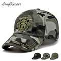 LongKeeper New Men Pentagram Cap Top Quality Caps Hunting Fishing Hat Outdoor Camo Baseball Hats Adjustable