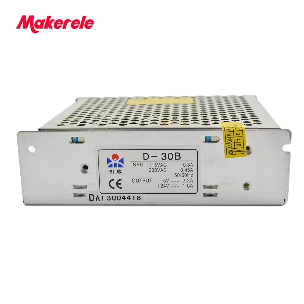 Dual voltage dual Output power supply Switching 30W 5V 2A 24V 1A ac to dc power supply ac dc converter D-30B low price NICE d 120a dual output switching power supply 120w 5v 12a 12v 5a ac to dc power supply ac dc converter