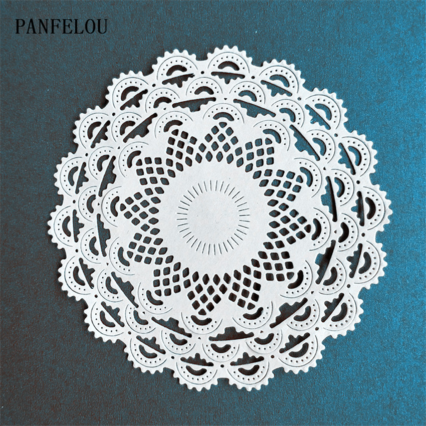 PANFELOU Lace Flower Metal Craft Paper Die Cutting Dies For Scrapbooking/DIY Hand Account Christmas Wedding Halloween Cards