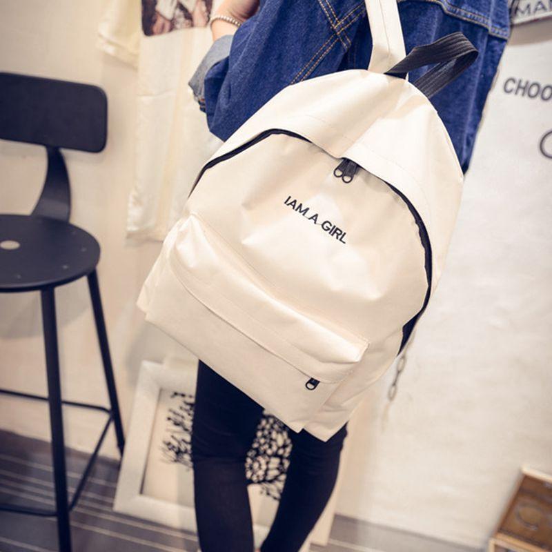 School Bag For Girls Canvas Backpack Schoolbag For Teenager 7-18 Year Old Cute Bookbag Children Cartoon School Backpacks WBS627