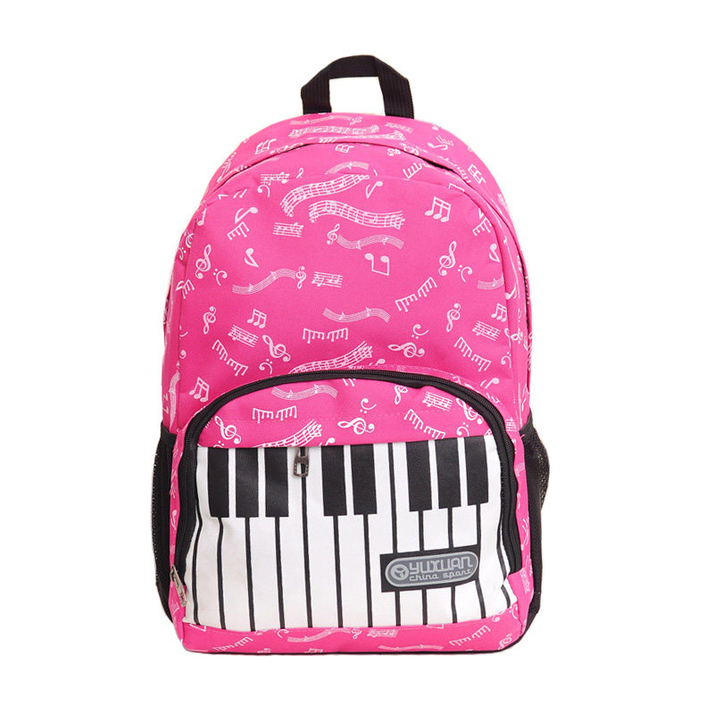 2017 Fashion Brand Piano Musical Note Letter Printing font b Backpack b font Travel font b