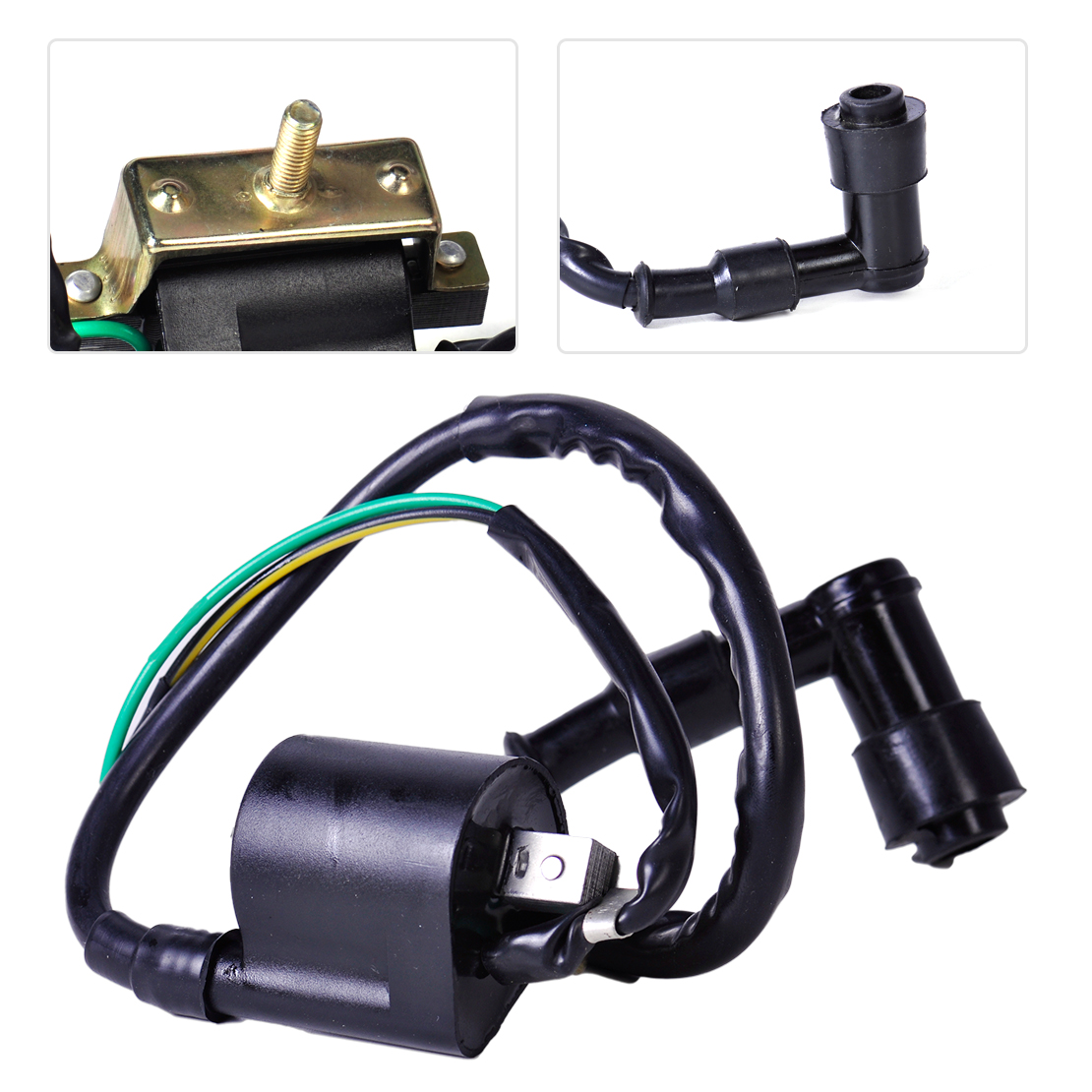 Replacement Ignition Coil 2 Pin for China 4-Stroke Engines 50//125cc