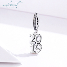 inbeaut Hot Sale 100% 925 Sterling Silver Cubic Zirconia fit Pandora Bracelet 2019 Year Charms S925 Beads Bangle Jewelry Making