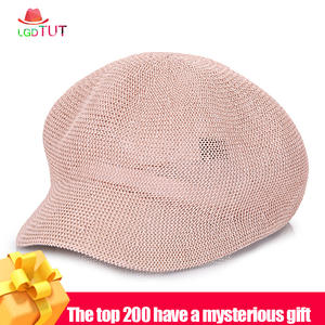 Visor Straw-Hats Snapback Leisure-Caps Spring Cool Women's Summer Breathable And Solid