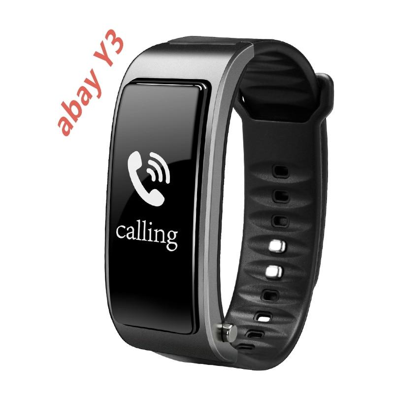 Abay y3スマートトークブレスレット腕時計ブルートゥースbluetooth分離型睡眠心拍数モニターステップカロリー燃焼androidとios  グループ上の 家電製品 からの スマートウォッチ の中 1