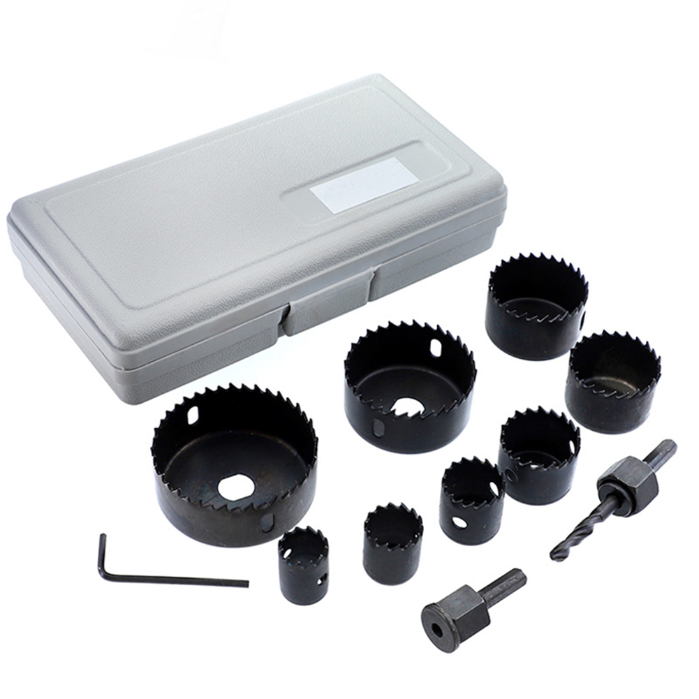 11pcs Hole Saw Cutting Set 19-64mm Carpentry Openings For Suit/set/tube Light Hole Saw Group Carbide Set