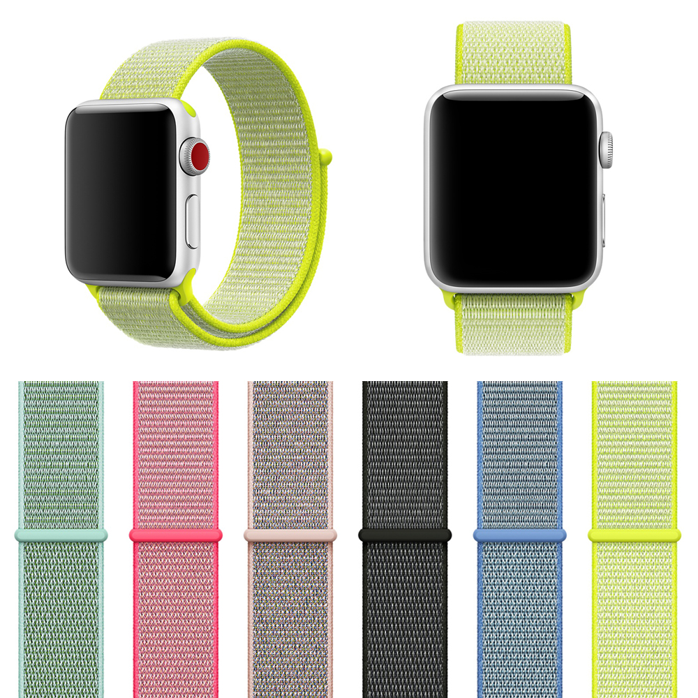Woven Nylon Sport Loop-Band für Apple Watch 42mm 38mm Ersatzarmband - Intelligente Elektronik