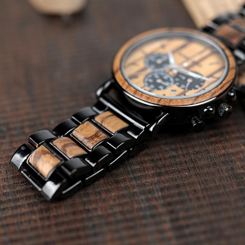 Zegarek drewniany Bobo Bird Logos 10