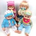 Alta qualidade vinil recém-nascidos bonecas reborn baby doll seguro educação toys para meninas e meninos