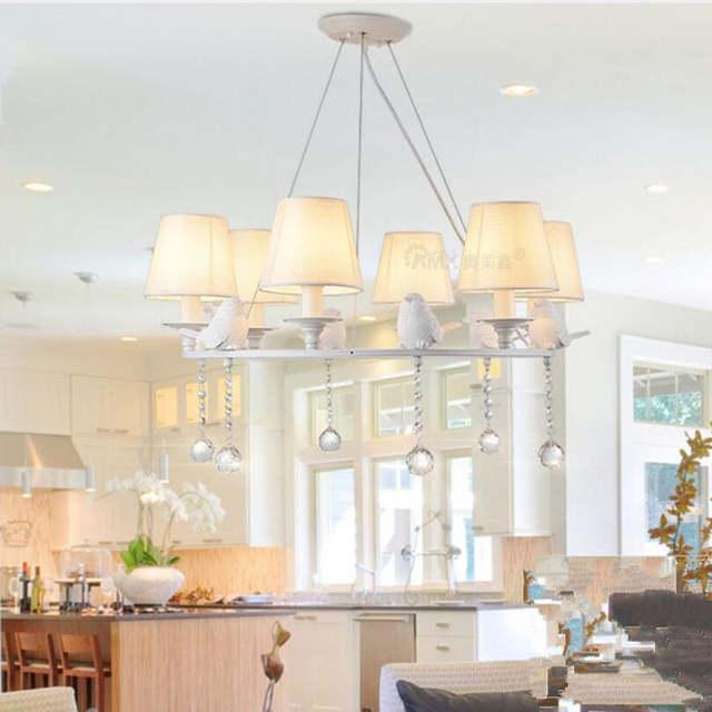 US $169.11 15% OFF|Moderne vogel Kristall Kronleuchter led lampen  wohnzimmer schlafzimmer Loft Weiß lampen Anhänger E14 led lustre lighing ...