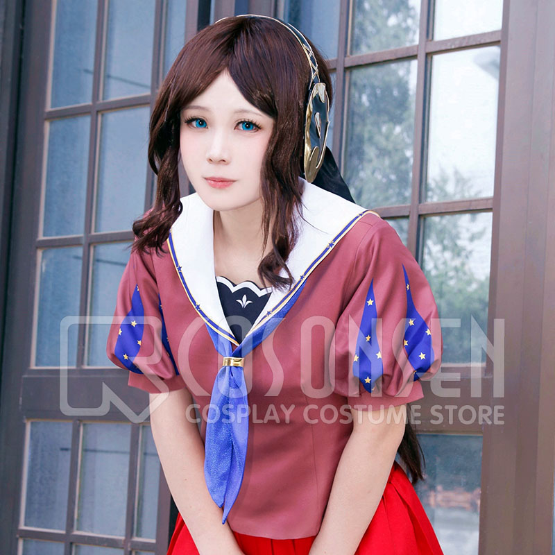 Fate Grand Order Leonardo da Vinci Cosplay Costume Anime Sailor Suit COSPLAYONSEN Custom Made All Size