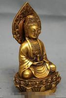 S2121 Folk Chinesische Bronzevergoldung Buddhismus Topf Kwan yin GuanYin Buddha Göttin Statue-in Statuen & Skulpturen aus Heim und Garten bei