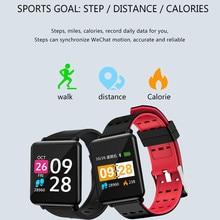 Смарт часы фитнес трекер монитор сердечного ритма фитнес часы трекер активности (14 режимов) шагомер вызов SMS SNS уведомление для женщин