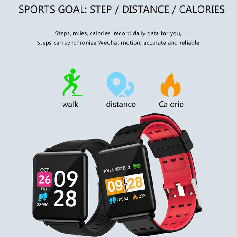 Smart Watch FitnessTracker Heart Rate Monitor Fitness Watch Activity Tracker(14 Modes) Pedometer Call SMS SNS Notice for Women-in Smart Wristbands from Consumer Electronics