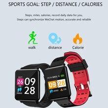 Smart watch Tracker Monitor pracy serca zegarek do fitness rejestrator aktywności fizycznej (14 trybów) krokomierz połączeń SMS SNS uwaga dla kobiet