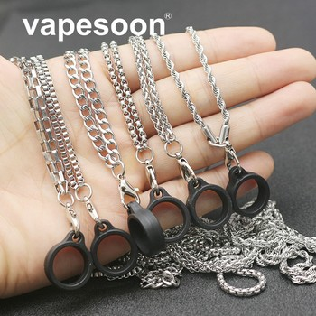 10pcs VapeSoon Universal Protective Mental Lanyard For Diameter 9-15mm Ecig Vape Pod Kit 410mm Long Decorative Ring Accessory