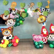 10 шт воздушные шарики в виде животных на день рождения джунгли