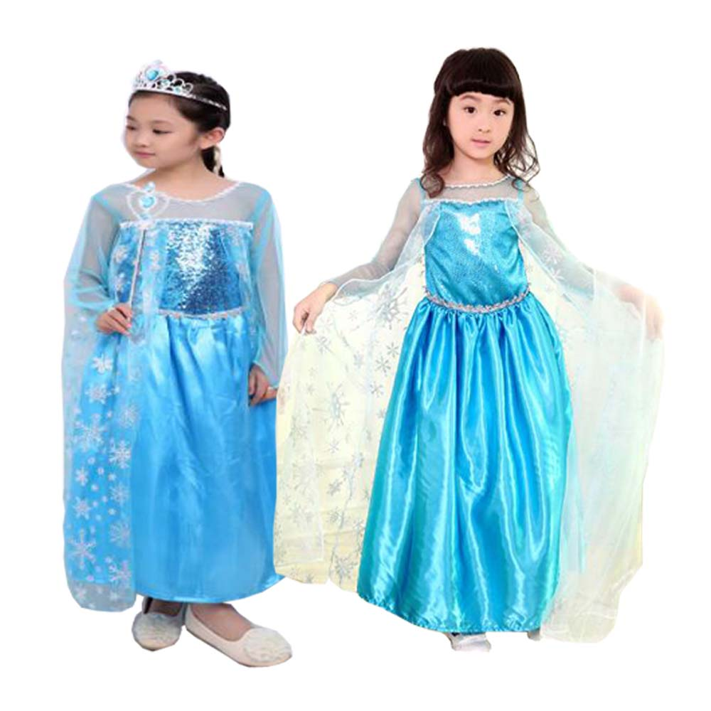 Tiange Wedding Elsa Anna Dress Girls Costume Cute Party Princess Cosplay Baby Dresses Children's Christmas Birthday Set Clothes
