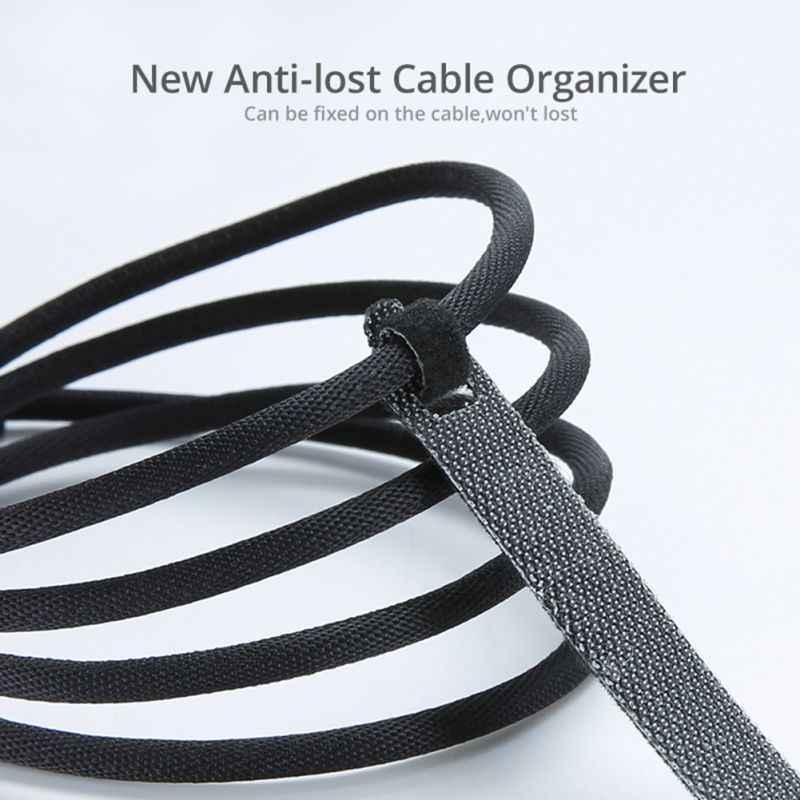 Cinturón de control de Cable de 14cm con Cable de Velcro adhesivo con tirantes para almacenar gancho para fijación reutilizable