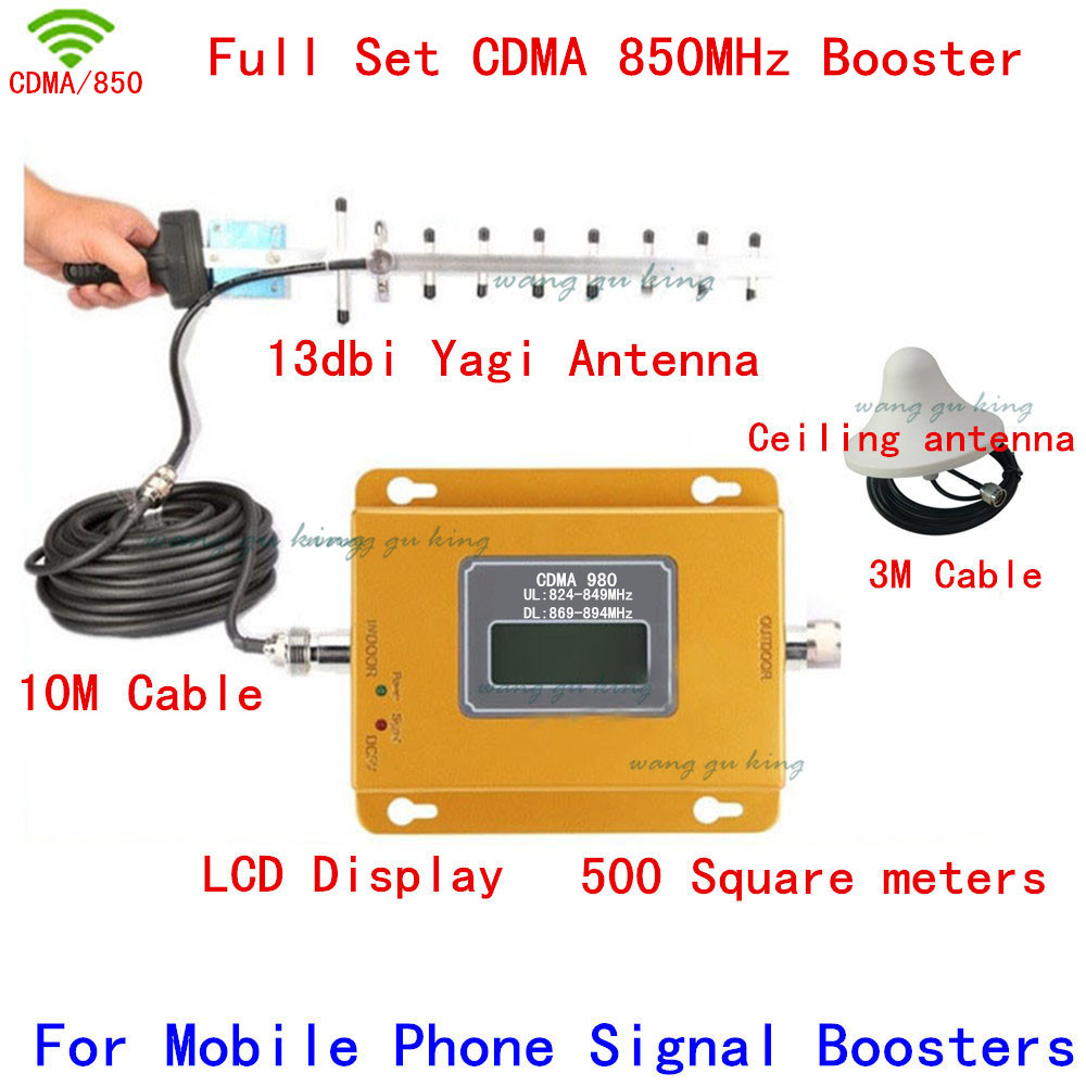 LCD Display USA/Brazil/Canada/Mexico CDMA 850mhz Signal Repeater Amplifier, CDMA Singal Booster For Mobile, Cell Phone Repeate