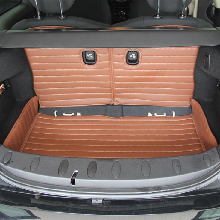Cuir écologique PU résistant à l'usure pour Mini 2 MINI tapis de coffre CLUBMANCOOPER + coussin de siège entièrement entouré