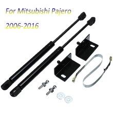 Для Mitsubishi Pajero автомобиля спереди двигатель стойки бара капюшон шок пневматическая распорка подъемника Поддержка 2006 2007 2008 2009 2010 2011 2012 13 14 15