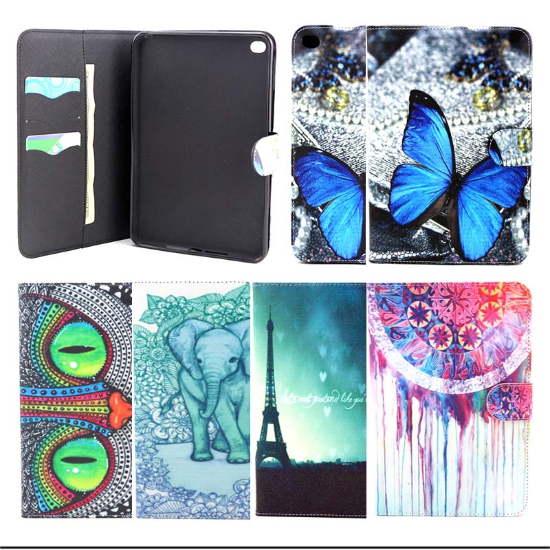 Fashion blue buttery PU Leather Flip Case for Apple iPad Mini 4 Stand Protector Cover for ipad mini4 Tablet Accessories S4D67D for apple ipad mini 4 case flip grape patterns pu leather protective cover rotate tablet pc stand shock resistant coque para