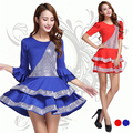 New Latin dance costume dresses  for women long Sleeves Ballroom Rumba Samba Tango Dance Costumes nice Latin Dance Dresses