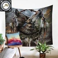 https://ae01.alicdn.com/kf/HTB1zGMhXzzuK1RjSspeq6ziHVXa5/Reflection-SunimaArt-Tapestry-Wall-Howling-Wolves-Dreamcatcher.jpg