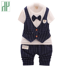 Gentleman boutique kids clothes shirt+pants and bow party baby boys clothes for girls fall children clothing outfits 2pcs/set цена в Москве и Питере