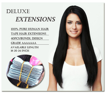 Top Quality Tape Hair Extensions 100% 8A brazilian Virgin Human Hair Extensions Skin Weft Hair Extension 16-24 inch