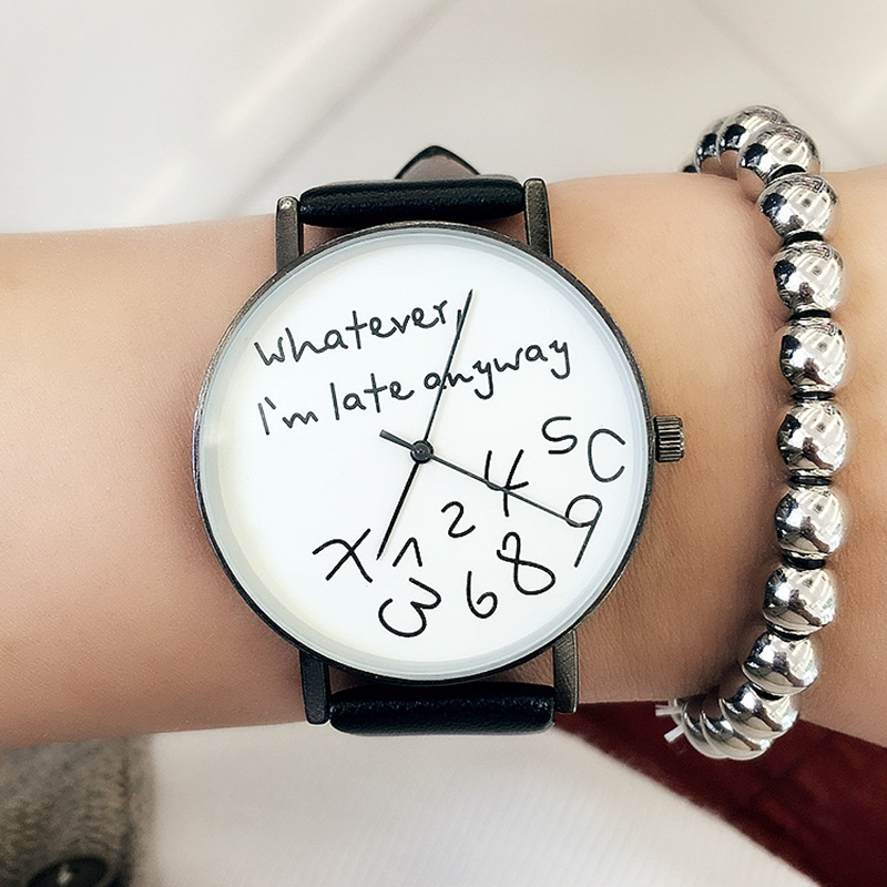 New 2018 Popular Women Casual Watch ladies Leather Luxury Watches Woman Sport Quartz Wristwatch simple female Clock Hours