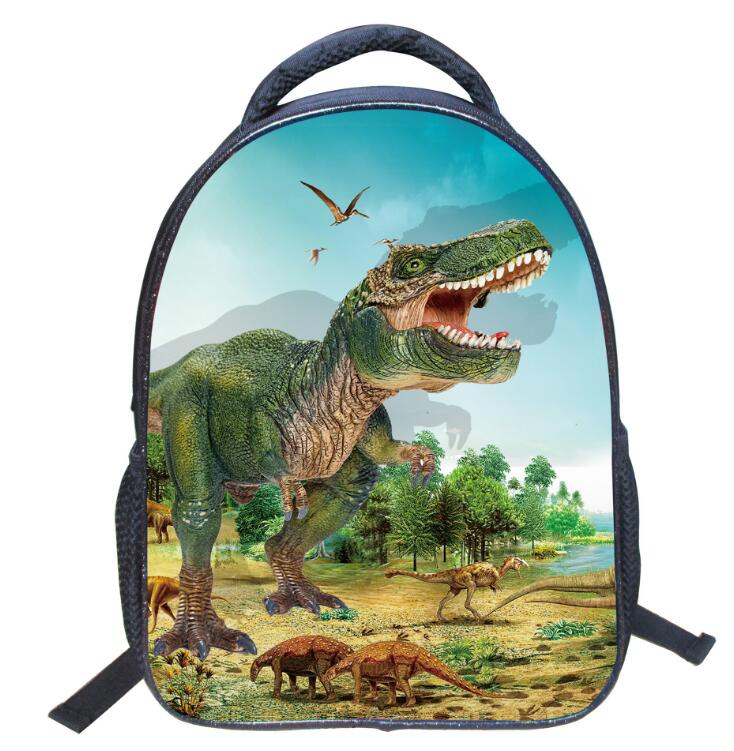 3D Dinosaur Printing School Bags Fashion Backpacks For Children 6 Colors Lightweight School Backpacks For Boys цена