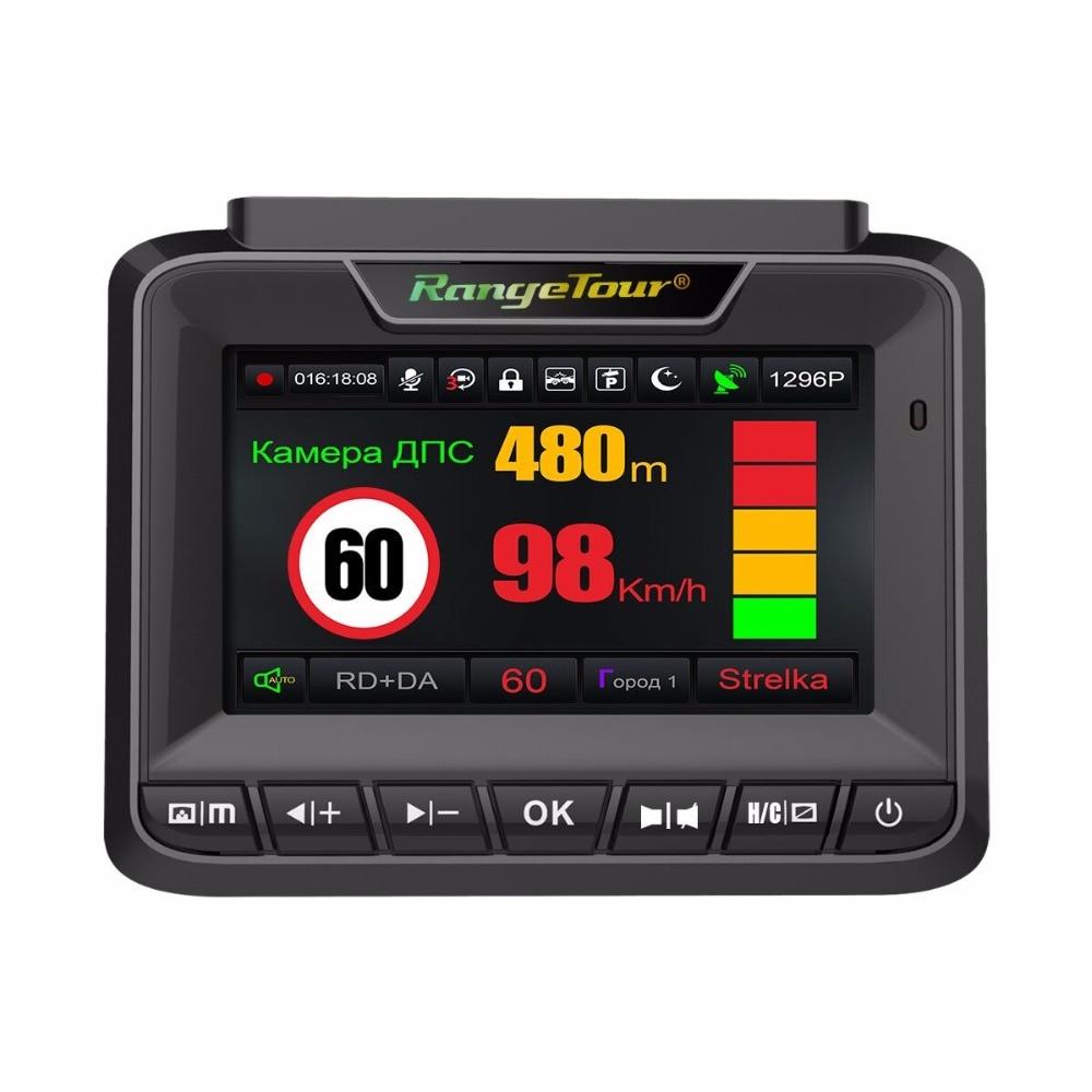 New Radar Detector With GPS Car DVR Video Recorder FHD 1296P Dash Camera 3 In 1 Car Detector Anti Radar For Car For Russia