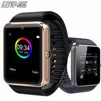 Coxang gt08 relógio inteligente crianças dos homens relógio de telefone sim cartão câmera relógio bluetooth smartwatch gt 08 conectar android ios pk a1