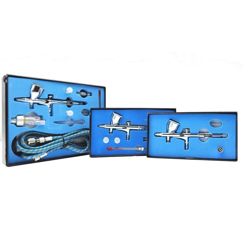 цена на 0.2/0.3/0.5mm Dual Action Airbrush Air Kit For Cake Tools Spray Gun Craft Practical Paint Nail Art Spray Guns Tattoos