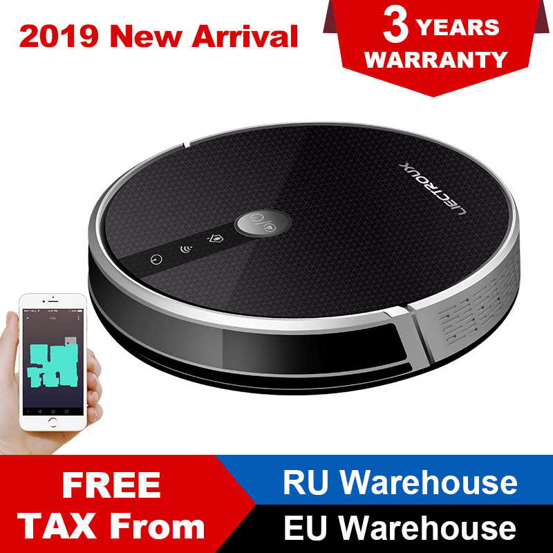LIECTROUX C30B Robot Vacuum Cleaner 3000Pa Suction 2D Map Navigation Smart Memory WiFi App Electric Water