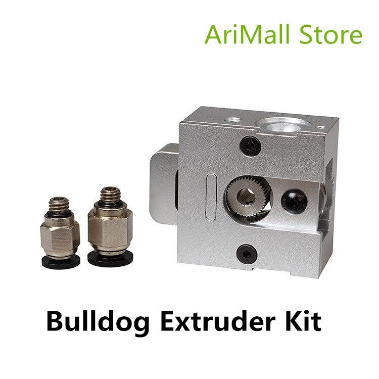 3D Imprimante Pièces Extrudeuse Kit En Alliage D'aluminium Extrudeuse 3D J-tête MK8 Bouledogue Universel Extrudeuse Kit