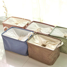 2016 New Arrival The Large Beam Storage Basket Fresh Dot Cotton Clothes Box Floor Debris 0461