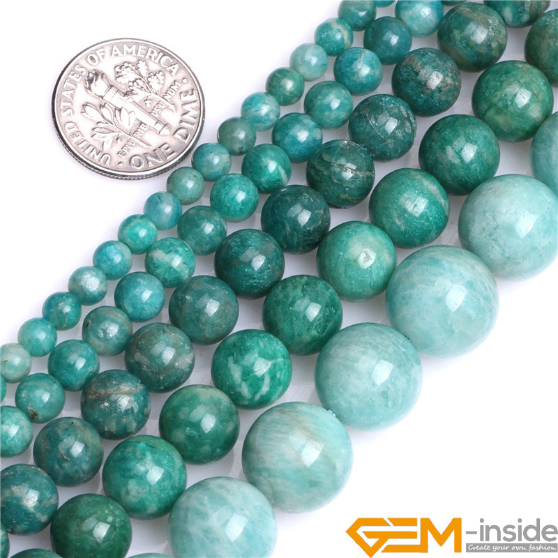 6mm 8mm 10mm Round Russian Amazonite Beads Natural Stone Stone Beads DIY Loose Beads For Jewelry Making Strand 15 Free Shipping 8mm 6 12 color including buddha skull beads elastic string beads set round natural stone beads for jewelry making bracelet diy