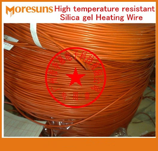 Fast Free Ship 50m/roll High Temperature Resistant Silicone Heating Wire/Electric Blanket Cable Electric Heater Wire